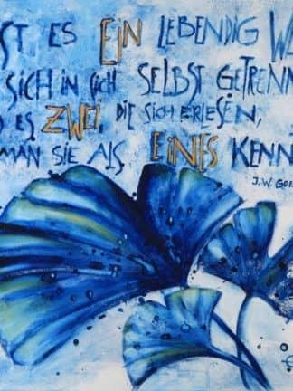 Ginkgo-Gedicht Goethe Brigitte Kolleger