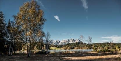 Schwarzsee im Herbst von Kurt Tropper